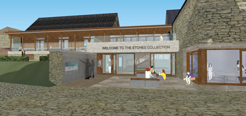 Front entrance to proposed museum